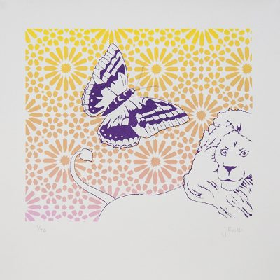 jenny booth butterfly lion