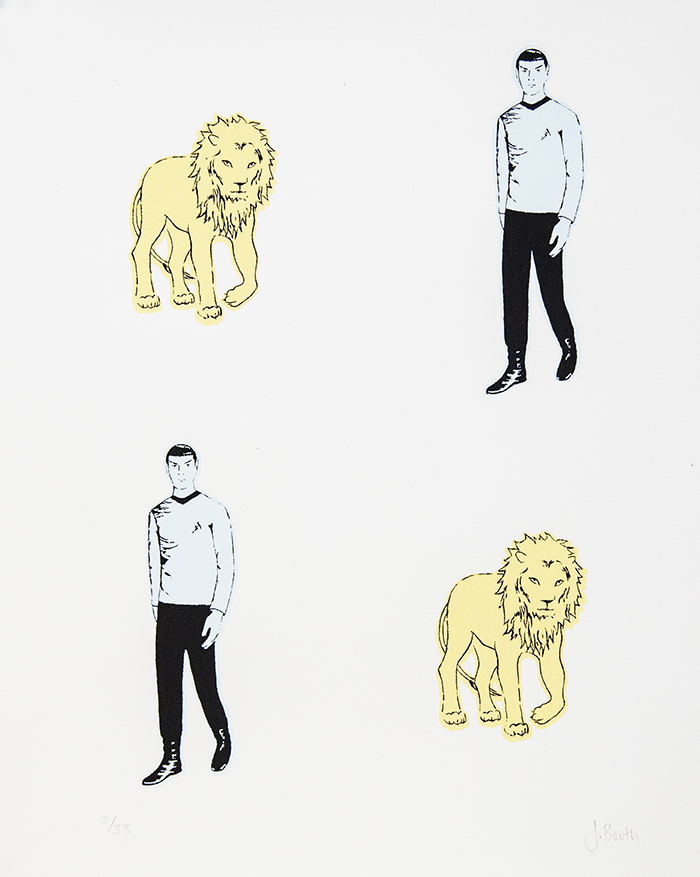 "Spock and Lion, 10½"" x 13″"