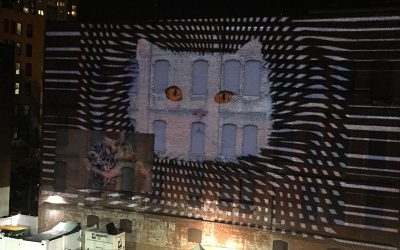 Op-art Kitty Projection